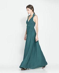 LONG GATHERED DRESS