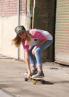 SheShreds Girls Pink Baseball Tee Skateboard Fashion, Skater Girls, These Girls, Skateboarding, Pink Girl, Spring Summer Fashion, Hipster, Baseball, Womens Fashion