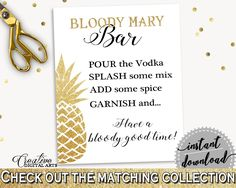 Bloody Mary Bar Sign Bridal Shower Bloody Mary Bar Sign Pineapple Bridal Shower Bloody Mary Bar Sign Bridal Shower Pineapple Bloody 86GZU - Digital Product #bride #bridal