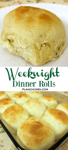 Weeknight Dinner Rolls - you can have homemade rolls any night of the week! This recipe is ready in under an hour!