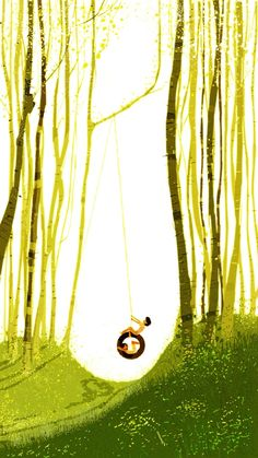Illustration Art: Shiny Summer Illustrations by Pascal Campion Pascal Campion, Affinity Designer, Parcs, Spring Day, Summer Days, Art Plastique, Cute Illustration, Storyboard, Bunt