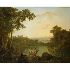 Apollo and the Seasons by Richard Wilson Art Print on Canvas Magnolia Box Size: Extra Large Painting Frames, Painting Prints, Landscape Art, Landscape Paintings, Richard Wilson, Framed Art Prints, Canvas Prints, Wilson Art, Art Uk