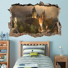 Hogwarts Harry Potter Smashed Wall Decal Removable Wall Sticker Art Mural H327