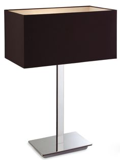 Zen Table Lamp With Black Shade