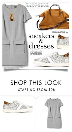 """""""Sporty Chic: Sneakers and Dresses"""" by dolly-valkyrie ❤ liked on Polyvore featuring D.A.T.E., Banana Republic, Cuyana and SNEAKERSANDDRESSES"""