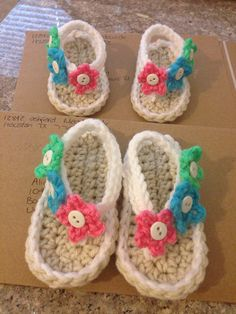 Crochet baby shoes and sandals 0-3,3-6,6-9 on Etsy, $10.00