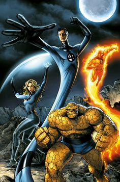 Fantastic Four...probably the first superhero team I ever loved. Marvel's first family.