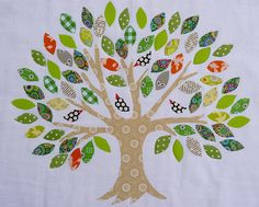 Leaf Template for Family Tree | Family Tree ~ pattern by Kellie Wufsohn ( Don't Look Now! )