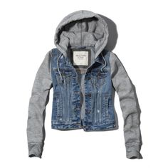 Abercrombie & Fitch Marisa Denim And Fleece Jacket