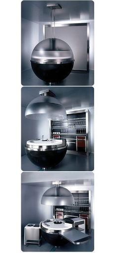 LUXURY ULTRA MODERN KITCHEN | Futuristic kitchen - Wow, this one is seriously weird | www.bocadolobo.com/ #luxuryfurniture #designfurniture