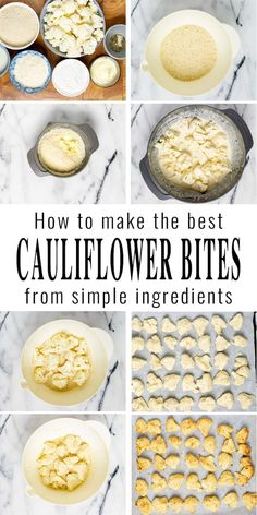 Cauliflower Bites are baked and packed with flavor. These are great served with tomato sauce or ranch, yum. A family favorite, even for pickiest eaters and you never know these are vegan. #vegan #dairyfree #vegetarian #dinner #lunch #mealprep #contentednesscooking #cauliflowerbites Dairy Free Diet, Dairy Free Recipes, Vegan Breakfast Recipes, Delicious Vegan Recipes, Baked Cauliflower Bites, Eating Vegan, Vegan Parmesan, My Best Recipe, Spring Recipes