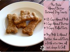 no-bake almond butter oatmeal dog treats from www.prettysweetlife.com