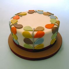 Kiely Inspired Birthday Cake Orla Kiely Inspired Birthday Cake // Someone PLEASE make this for me :) Oh heck, I'll make it myself.Orla Kiely Inspired Birthday Cake // Someone PLEASE make this for me :) Oh heck, I'll make it myself. Cupcakes, Cake Cookies, Cupcake Cakes, Hippie Cake, Pretty Cakes, Creative Cakes, Cake Creations, Celebration Cakes, Cakes And More