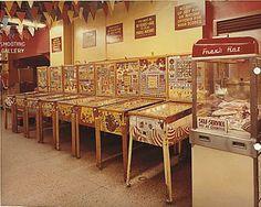 The bingo machines, Wonderland Arcade, Kansas City, 1968.