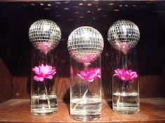 Disco glass centrepiece