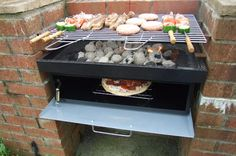 Buy DIY Charcoal Barbecue With Fitted Oven. Replacement Grills and Charcoal Ashtrays. The Grill and Bake BBQ From Planet Barbecue Barbecue Grill, Grilling, Outdoor Oven, Outdoor Cooking, Parrilla Exterior, Brick Grill, Grill Door Design, Bokashi, Bbq Area