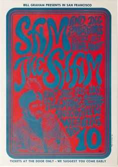When asked who was the worst band he ever worked with (by Dick Cavett, BG answered.August 1966 Concert Poster: Sam the Sham & The Pharaohs and The Sit-Ins at Fillmore Auditorium, San Francisco, artist: Wes Wilson Vintage Concert Posters, Vintage Posters, Psychedelic Art, Wes Wilson, Fillmore Auditorium, Rock Posters, Music Posters, Art Posters, Bill Graham