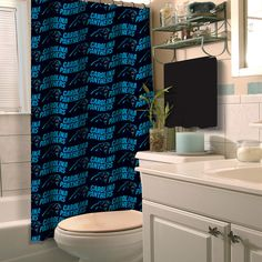 Carolina Panthers NFL Shower Curtain