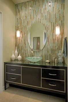 Glass Tile Design Ideas, Pictures, Remodel, and Decor - page 5