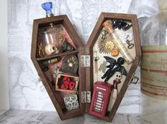 Hey, I found this really awesome Etsy listing at https://www.etsy.com/listing/177432777/thats-weird-miniature-coffin-shadowbox