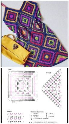 Crochet Blanket Edging, Crochet Motif Patterns, Basic Crochet Stitches, Crochet Basics, Free Crochet Bag, Mode Crochet, Beginner Crochet Projects, Unique Crochet, Freeform Crochet