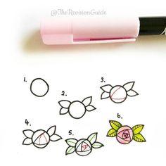 Desenho simples// rosas// flores