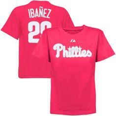 58d59a337 Majestic Raul Ibanez Philadelphia Phillies  29 Preschool Girls Name    Number Player T-Shirt – Hot Pink