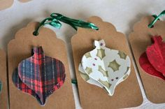 Large Gift Tags Christmas Ornament Tags by BeanBlossomDesigns