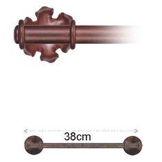 Toallero de barra, diseno basico, oxido forja. TLL3500