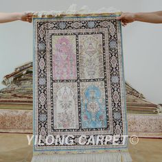 Yilong 1.9'x2.9' Oriental silk carpet four season handmade exquisite garden silk rugs (0406)