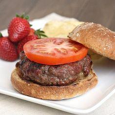 Hamburger Recipes : Stuffed Cheddar Bacon Cheeseburgers