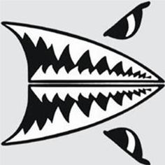 10 Best Shark Face Images Nose Art Shark Mouth Fighter