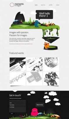 Unique Web Design, Momento Images #webdesign #design (http://www.pinterest.com/aldenchong/)