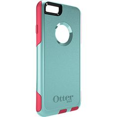 iPhone 6 Wallet Case | Commuter Series Wallet by OtterBox | Aqua blue and blaze pink