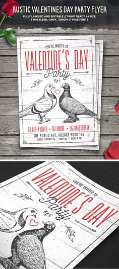 Valentine\'s Day Party - Event Flyer Template 5 | Pinterest | Event ...