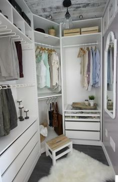 Fitted Wardrobe Design or Walk=in Closets Design - reach in closet ideas decoholic.com. In a bedroom, we often crave for storage to keep some stuff but we do not have the appropriate space to do so. This type of wardrobe style only require you a small space which could be anywhere.