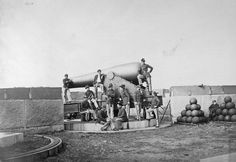 A 15 inch Rodman cannon at the fort in the Civil War.