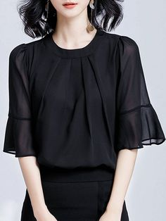 Shop Blouses from At.$$, buy Elegant Frill Sleeve Flounce Ruffled Blouse online. Discover unique designers fashion at StyleWe.com.