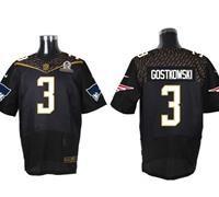 Nike New England Patriots #3 Stephen Gostkowski Black 2016 Pro Bowl Men's Stitched NFL Elite Jersey