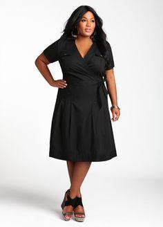 Ashley Stewart: Cotton Wrap Dress