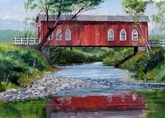 Great old covered bridge.  Look at the windows.