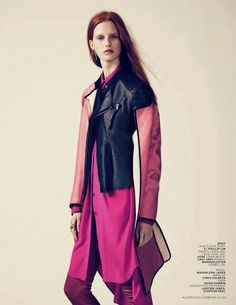 Think Pink: #MagdalenaJasek by #JonasBresnan for #LOfficielNetherlands August 2013