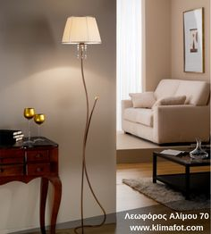 Italian Lighting Floor Lamp, hand forged iron and brass details with pleated fabric shades with gold trim and crystal complements. Italian Lighting, Pleated Fabric, Fabric Shades, Wall Sconces, Floor Lamp, Table Lamp, Chandelier, Traditional, Crystals