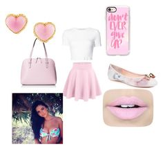 """""""Pink Ballerina"""" by kenderrickaj6 ❤ liked on Polyvore featuring Rosetta Getty, Ted Baker, Kate Spade, Casetify, Chanel and Fiebiger"""
