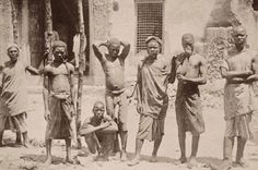 Young Africans sold into slavery by Arab merchants. This photo was taken in the 1890s.  and now they want to convert them to Islam......SLAVERY Still Exists in the World of Islam - Religion of Pieces