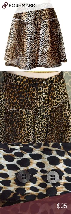 "Just Added🌟D&G Dolce & Gabbana Animal Print Skirt D&G Dolce & Gabbana Animal print skirt💫Button up front with Banded adjustable tie waist💫Size 40 or US 6💫100% cotton💫28"" waist stretches to 32"". 16"" long. "" D&G Skirts Mini"