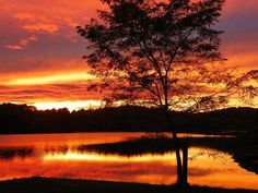 October sunset over Treasure Lake, PA in Clearfield County Recreation and Tourism Authority, shared by Treasure Lake.