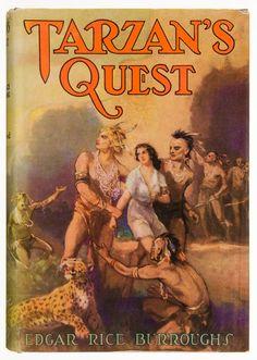 Books:Science Fiction & Fantasy, Edgar Rice Burroughs. Tarzan's Quest. Tarzana, California:Edgar Rice Burroughs, Inc., [1936]. First edition. ... Image #1