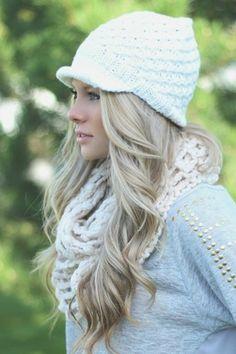 a71adf1377c Ivory Knit Newsboy Hat  knit  knitted  hat  fall2013  nanamacs Boho Hat