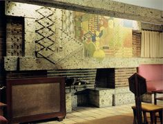 Imperial Hotel, Japan, 1923 - Frank Lloyd Wright - sadly demolished because it wasn't earthquake proof Imperial Hotel, Usonian, Modern Architecture, Frank Lloyd Wright Buildings, Chicago School, Tokyo Japan, Red Sun, Wassily Kandinsky, Brick Fireplace